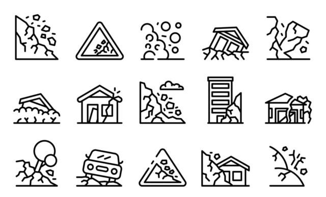 土砂災害の種類のイラスト